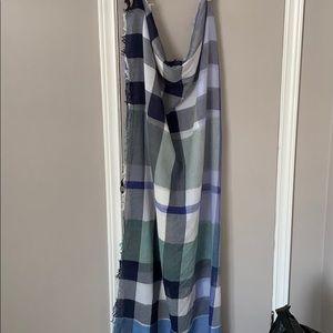 Burberry mega check scarf cotton blend